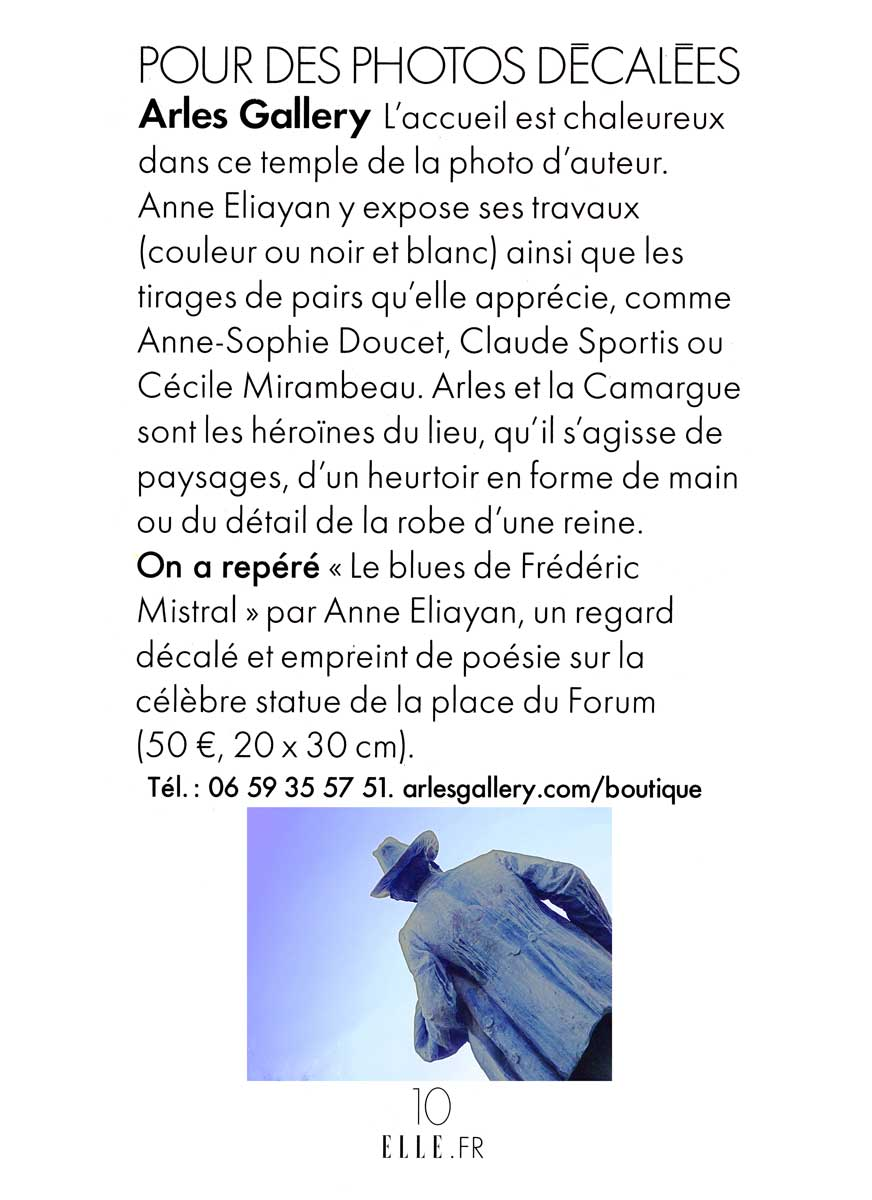 ELLE-magazine- article Arles-Gallery