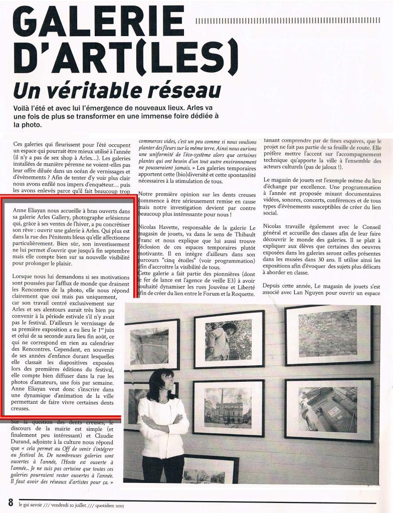gai savoir Arles Gallery