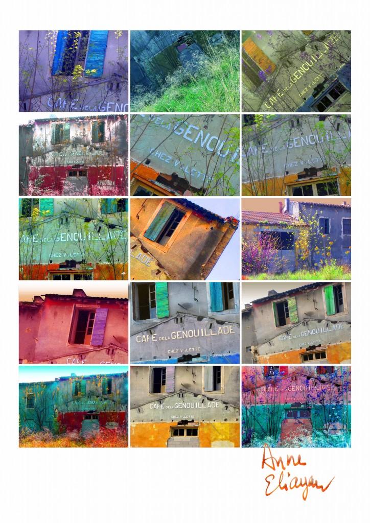 Journal au fil du Rhône Café de la Genouillade pour Arles Gallery galerie de Anne Eliayan