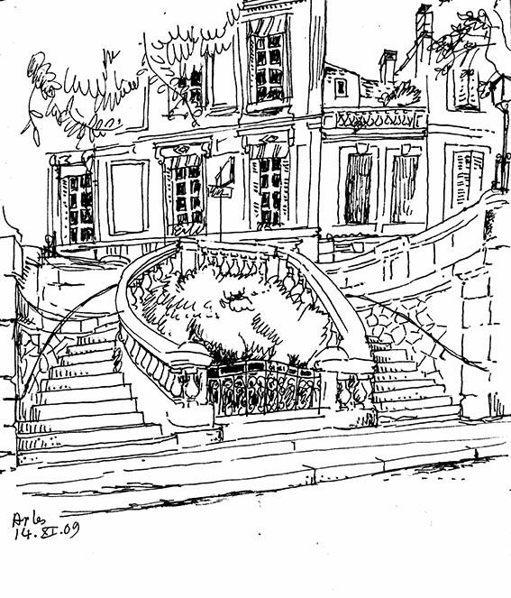 Arles l'escalier du jardin XS