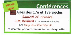 Jean marc Bernard 24 octobre 2015 conference arles