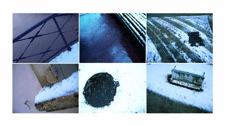 neiges dans les rues arles
