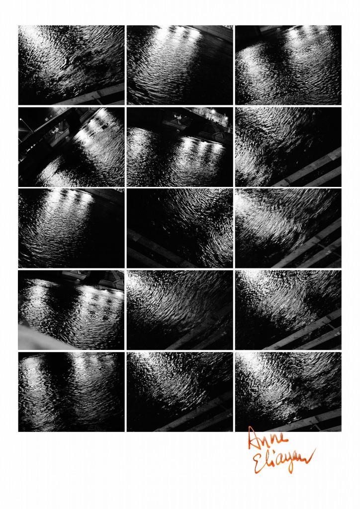 Echographie du Rhône la nuit Arles Gallery photo Anne Eliayan