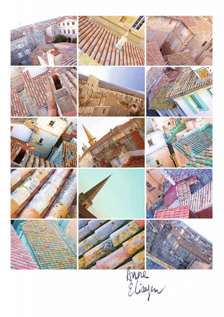 vue de l'hotel de Donines à Arles toit-arles-gallery-anne-eliayan