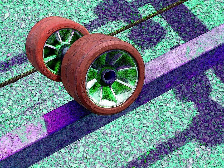 Les roues de la remorque