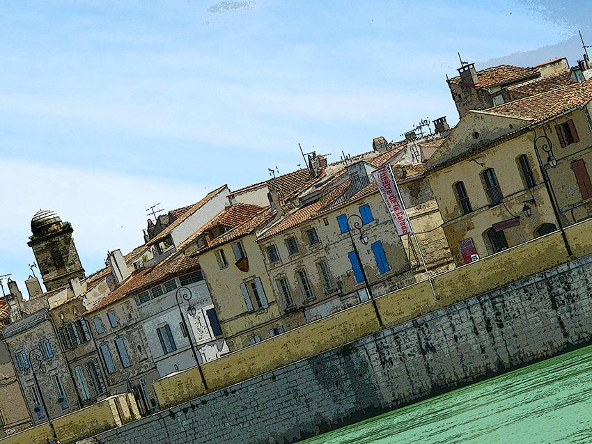 Les quais d'Arles